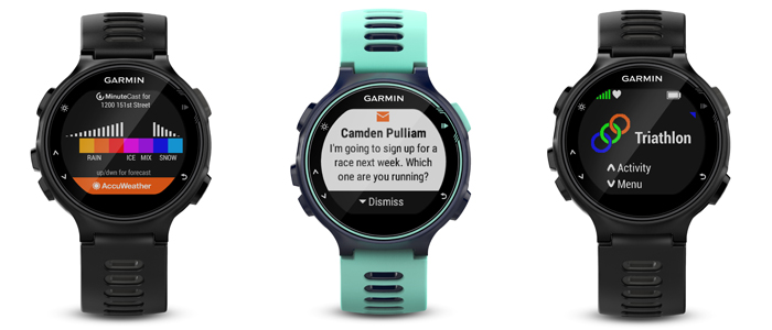 garmin forerunner 735XT apps and notifications