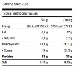 Protein Burst Bar, 70 g, QNT