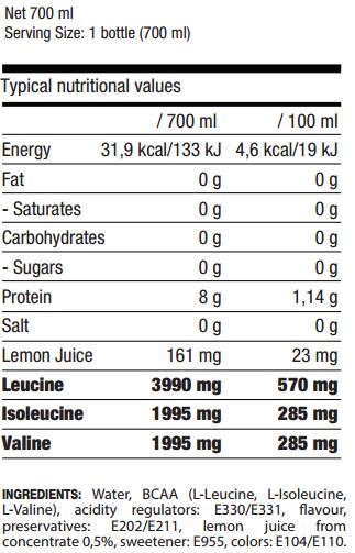 BCAA'S, 700 ml, QNT