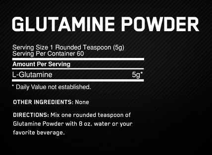 Glutamine Powder, Optimum Nutrition