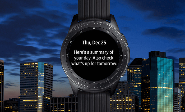 Samsung Galaxy Watch, Night activities