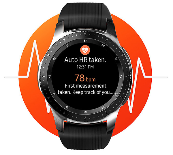 Samsung Galaxy Watch, Track health monitoring