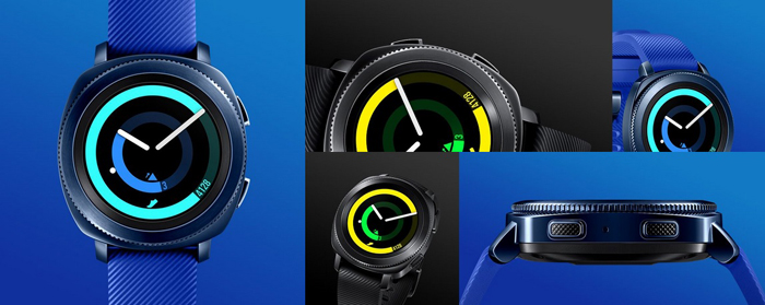 Samsung Gear Sport, Black and Blue